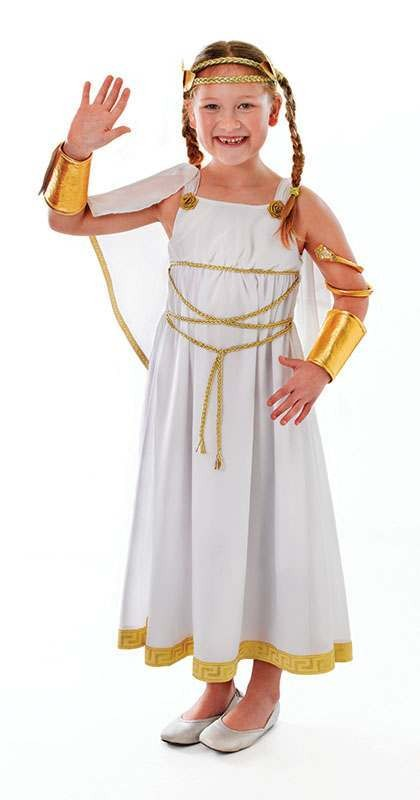 Girls Goddess Greek Outfit - (White)