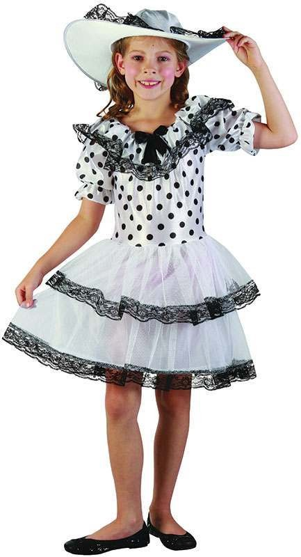 Girls Southern Belle Outfit - (Black, White)