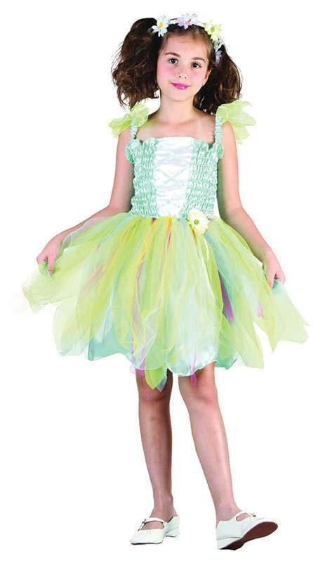 Girls Flower Princess Fairy Tales Outfit - (Green)
