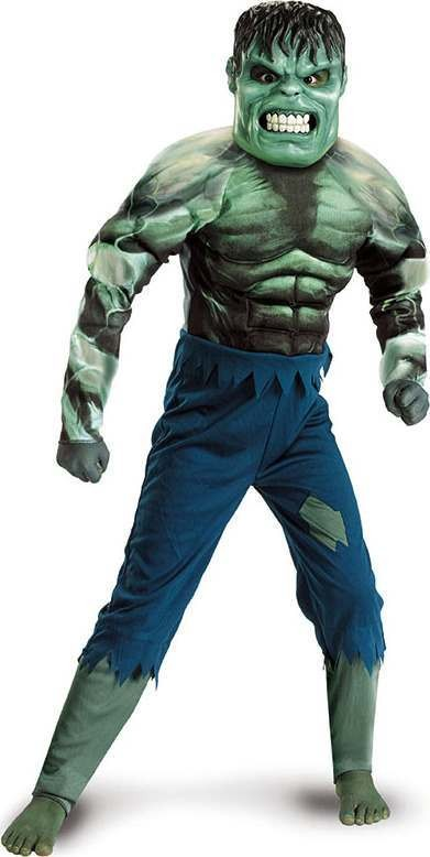 Incredible Hulk Muscle . (Fancy Dress Costume)