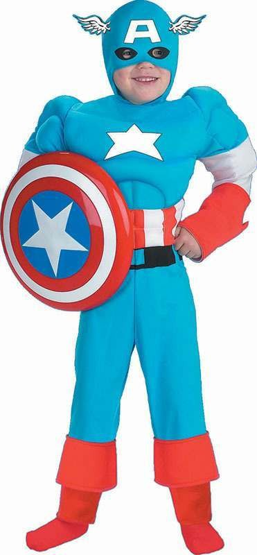 Captain America Muscle (Fancy Dress Costume)