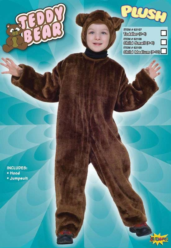 Teddy Bear. Plush Fancy Dress Costume
