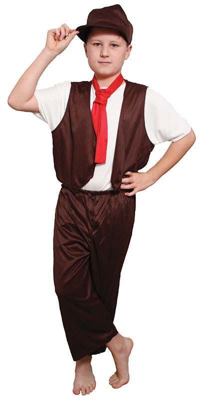 Boys Victorian Boy Victorian Outfit - (Brown, White)