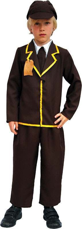 Boys Evacuee Boy Fairy Tales Outfit - (Brown)