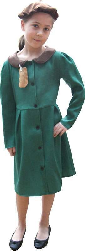 Girls Evacuee Girl Fairy Tales Outfit - (Green)