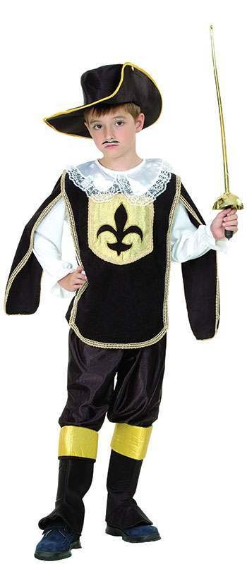 Boys Musketeer Boy Musketeer Outfit - (Black)
