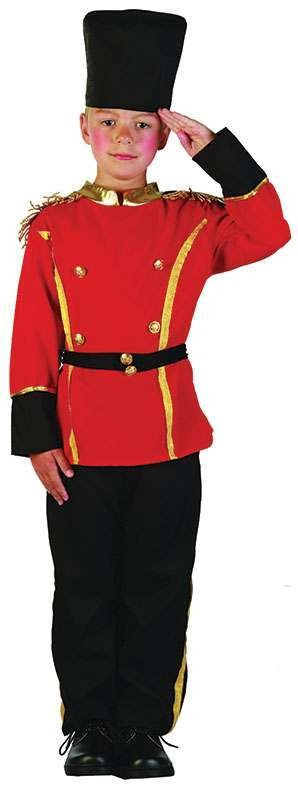 Boys British Guard Army Outfit - (Red, Black)