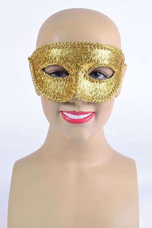 Gold Eye Mask + Ribbon Tie Masks