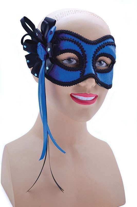 Blue With Side Decoration On Headband Masks
