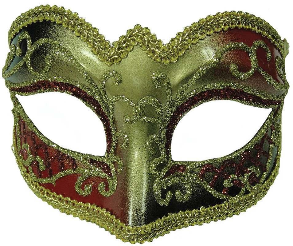 Red/Gold Female Mask Masks