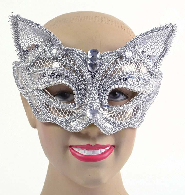 Silver Cat Sequin. Glass Frame Accessories