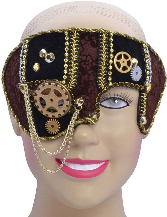 One Size Steampunk Eye Mask Male  Fancy Dress Accessory