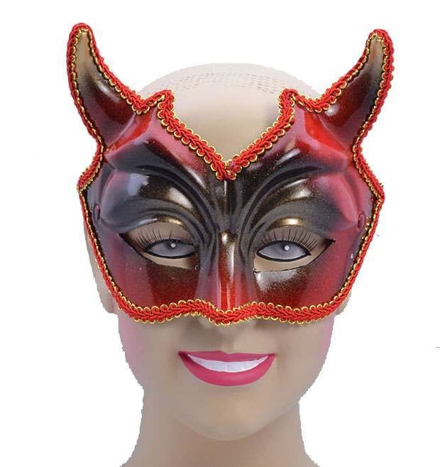 One Size Devil Style Eye Mask Fancy Dress Accessory