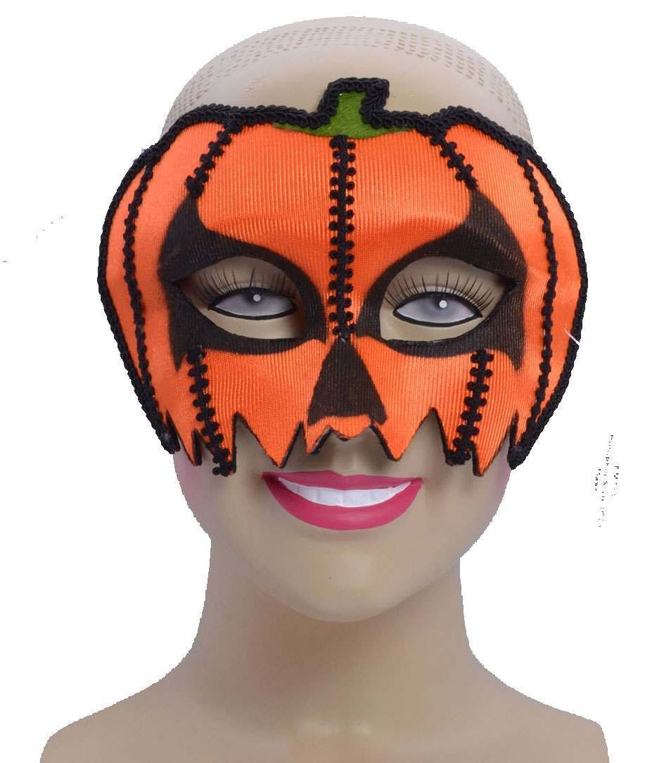 One Size Pumpkin Style Eye Mask Fancy Dress Accessory