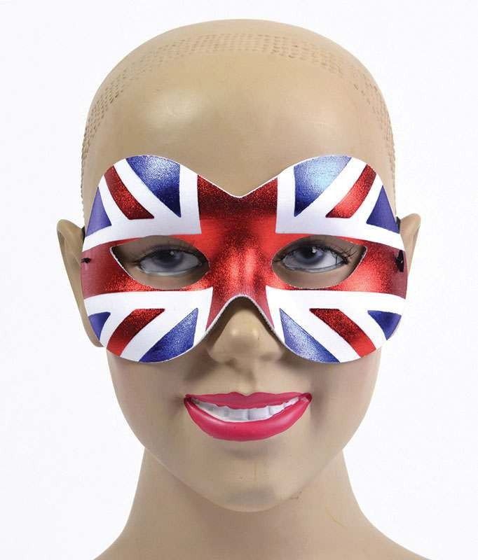 Union Jack Mask. Female Accessories