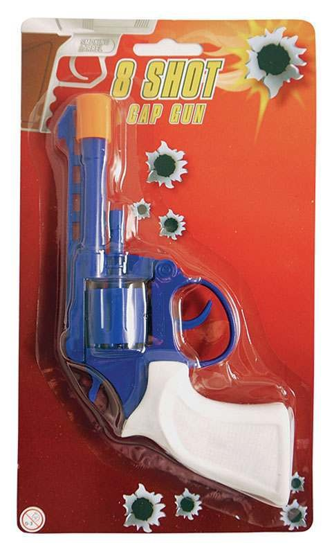 Cap Gun. 8 Shot. Blue Accessories
