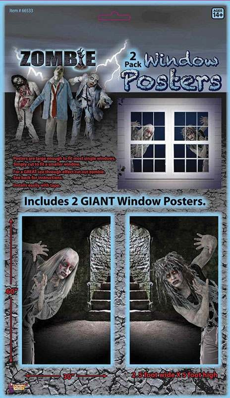 Zombie Window Poster Accessories