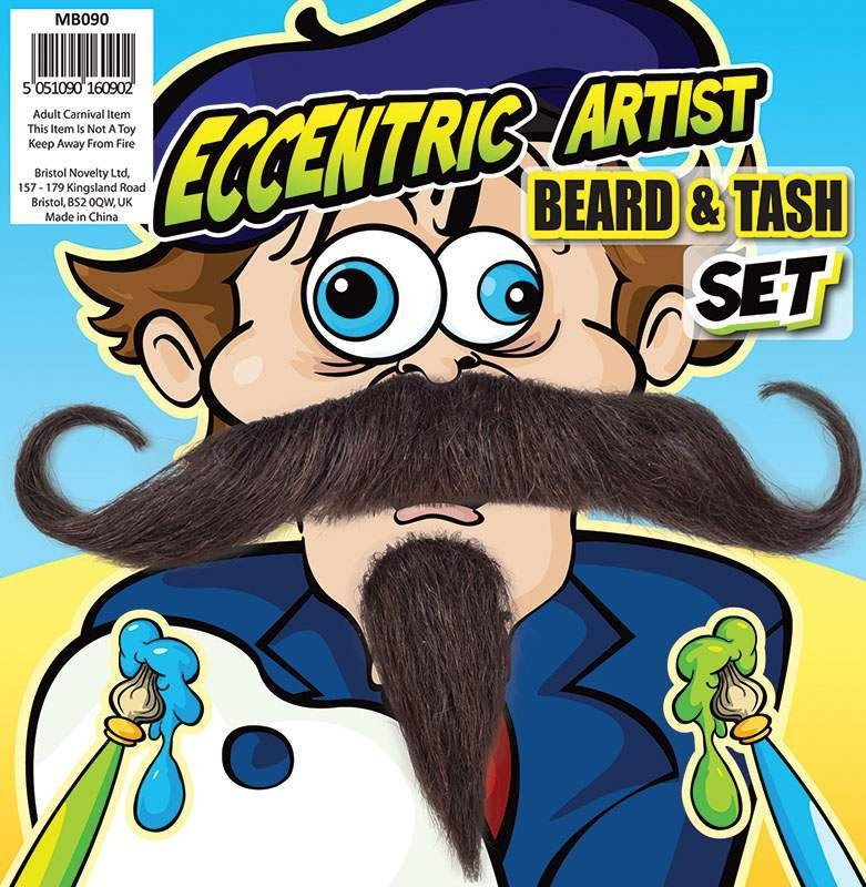 Eccentric Artist Beard & Tash Accessories