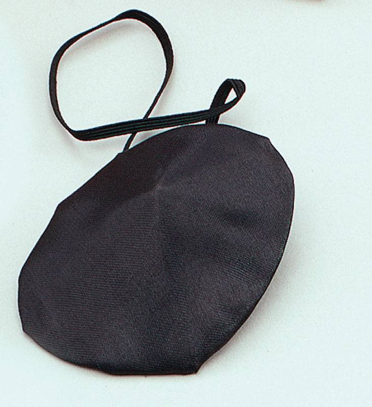 Eyepatches. Black, Silk (Pirates Fancy Dress Disguises)