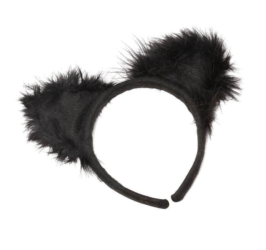 Cat Ears With Marabou On Band Accessories
