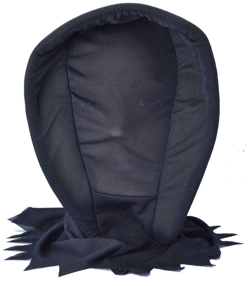 One Size Invisible Hooded Mask Black Fancy Dress Accessory