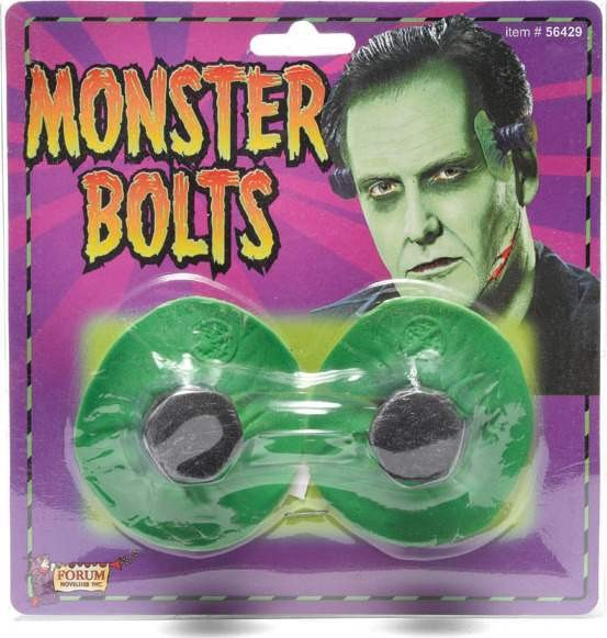 Monster Bolts. Green (Halloween Fancy Dress)