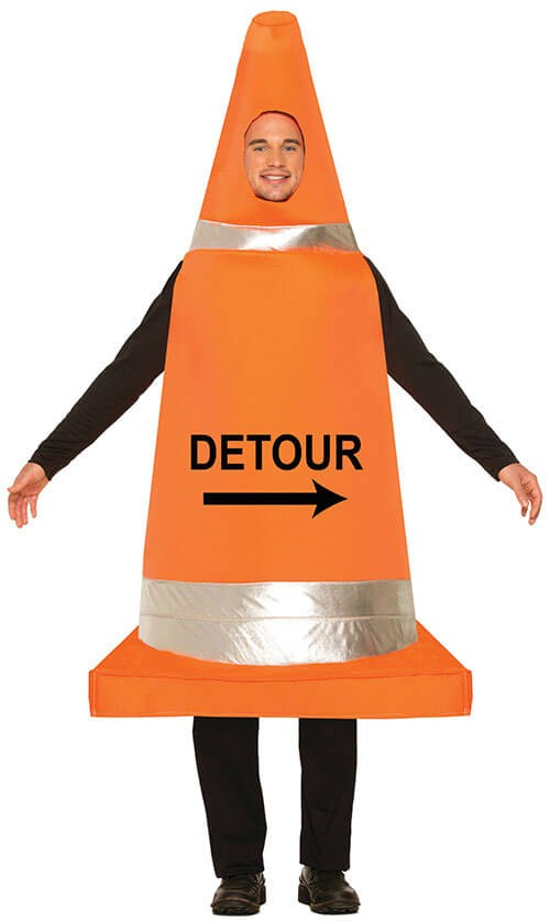 Adults Party/Stag Do/Fun Traffic Cone Fancy Dress Costume