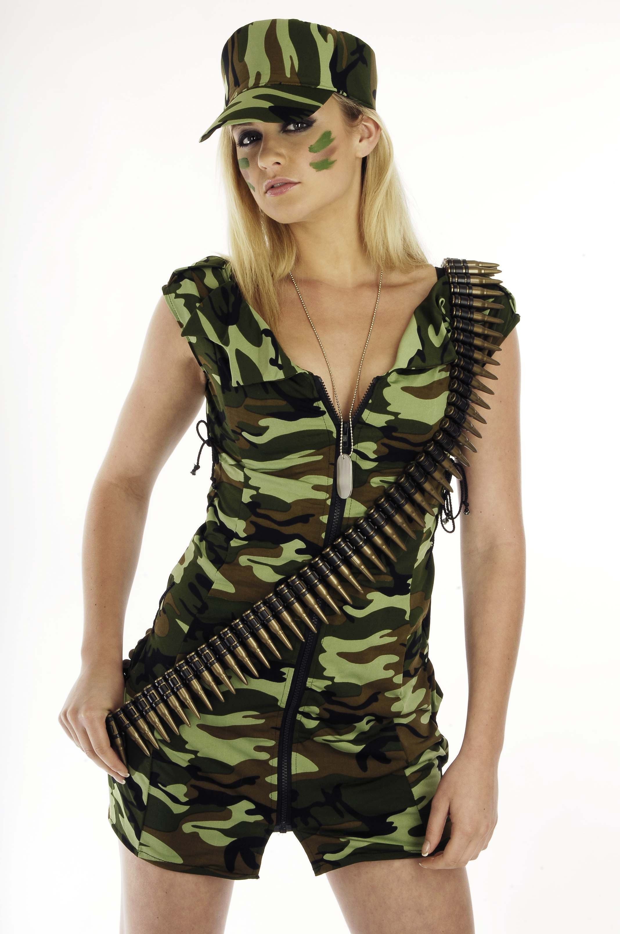 Ladies Army Girl Army Outfit - (Camo )