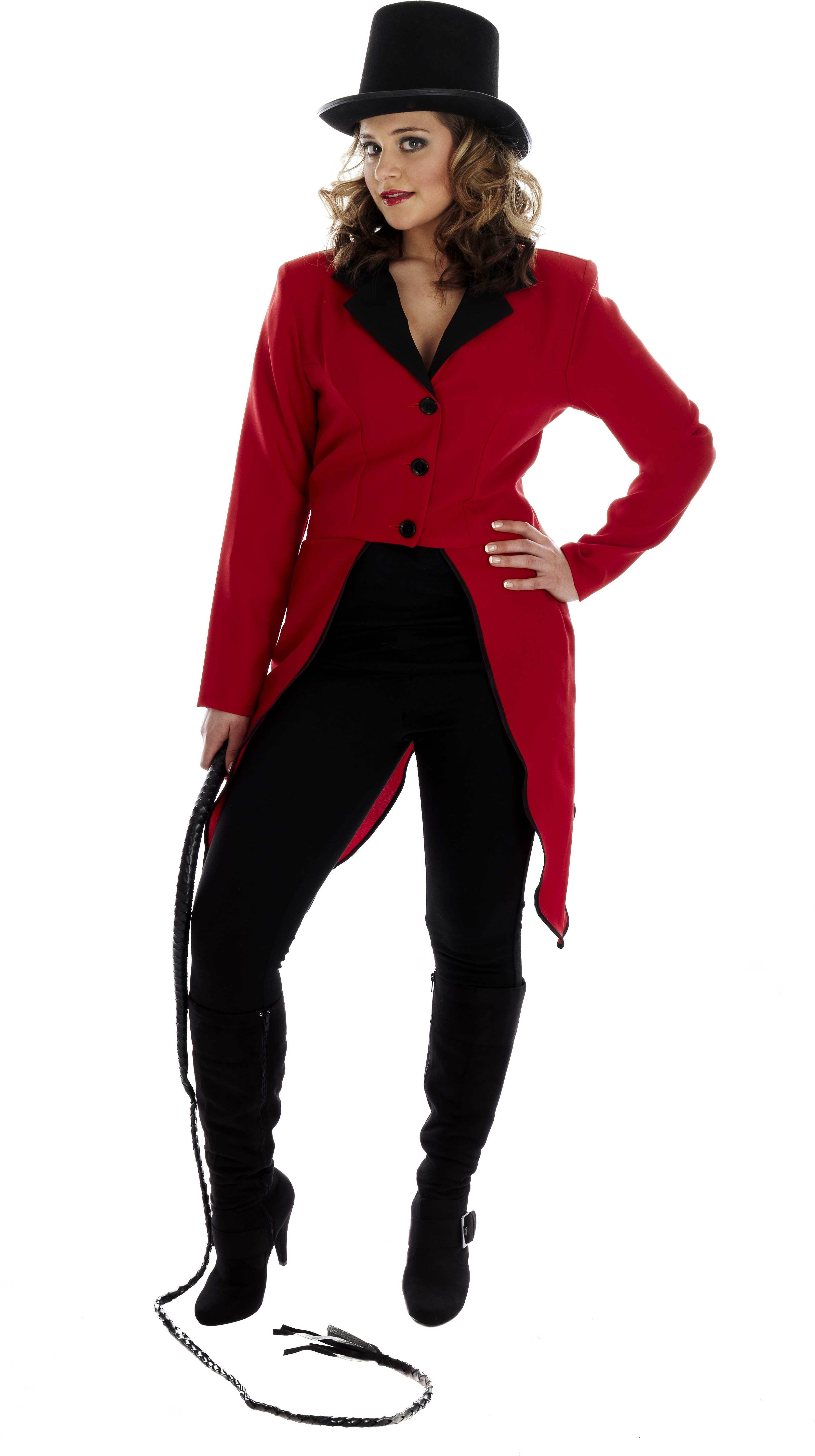 Circus Ring Master Jacket Fancy Dress Costume Ladies (Clowns)
