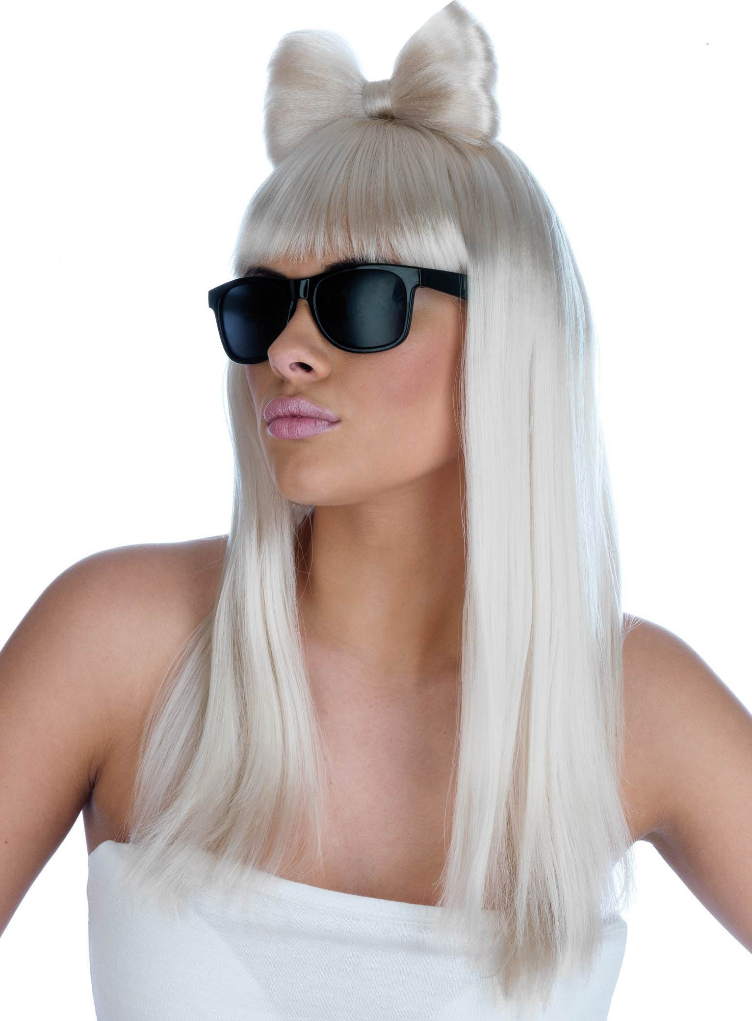 Ga Gablonde Pop Diva Wig And Glasses ( 200G) One Size (Music)