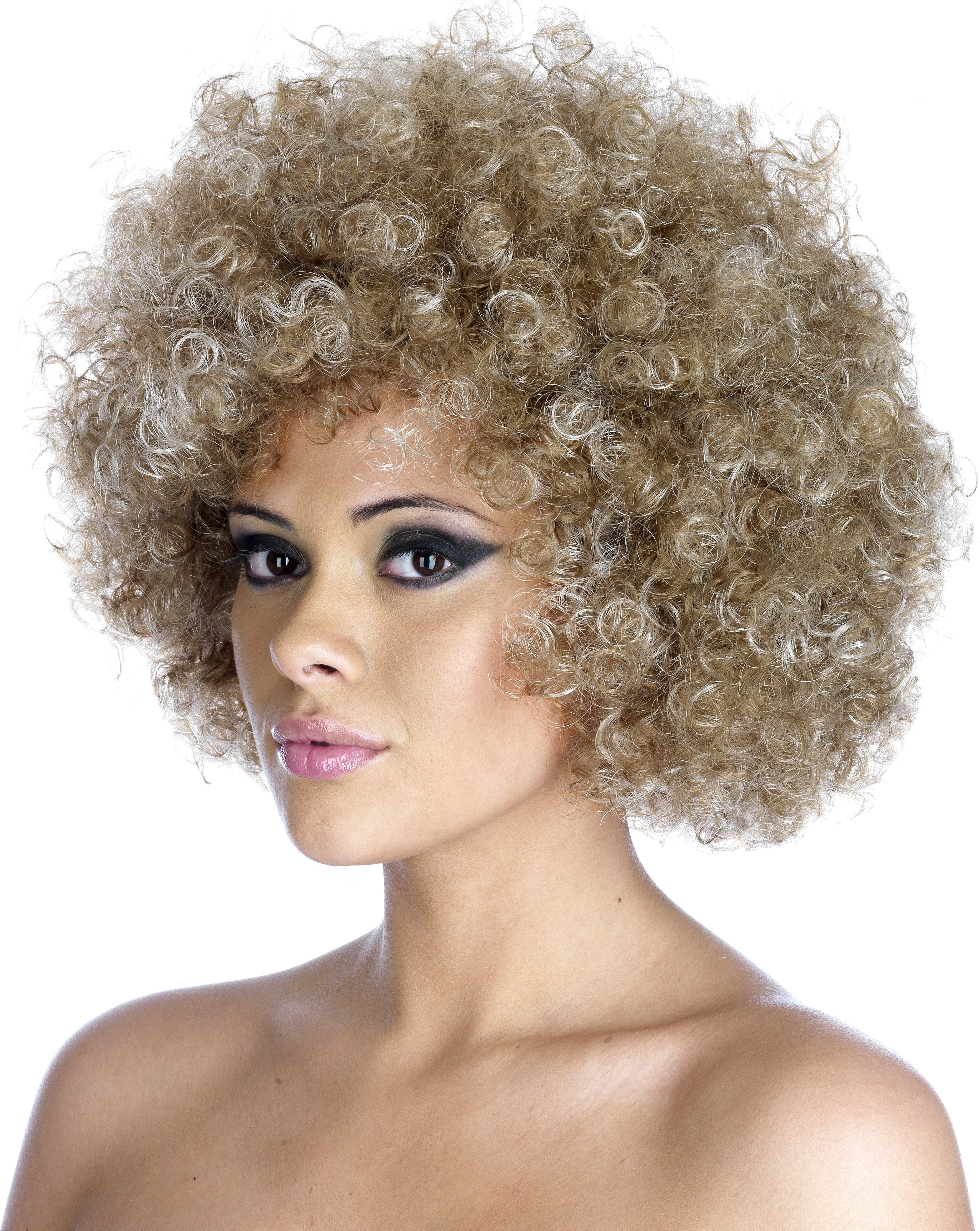 Blonde 2 Tone Afro Wig (Pet) 200G One Size Ladies (1980S)