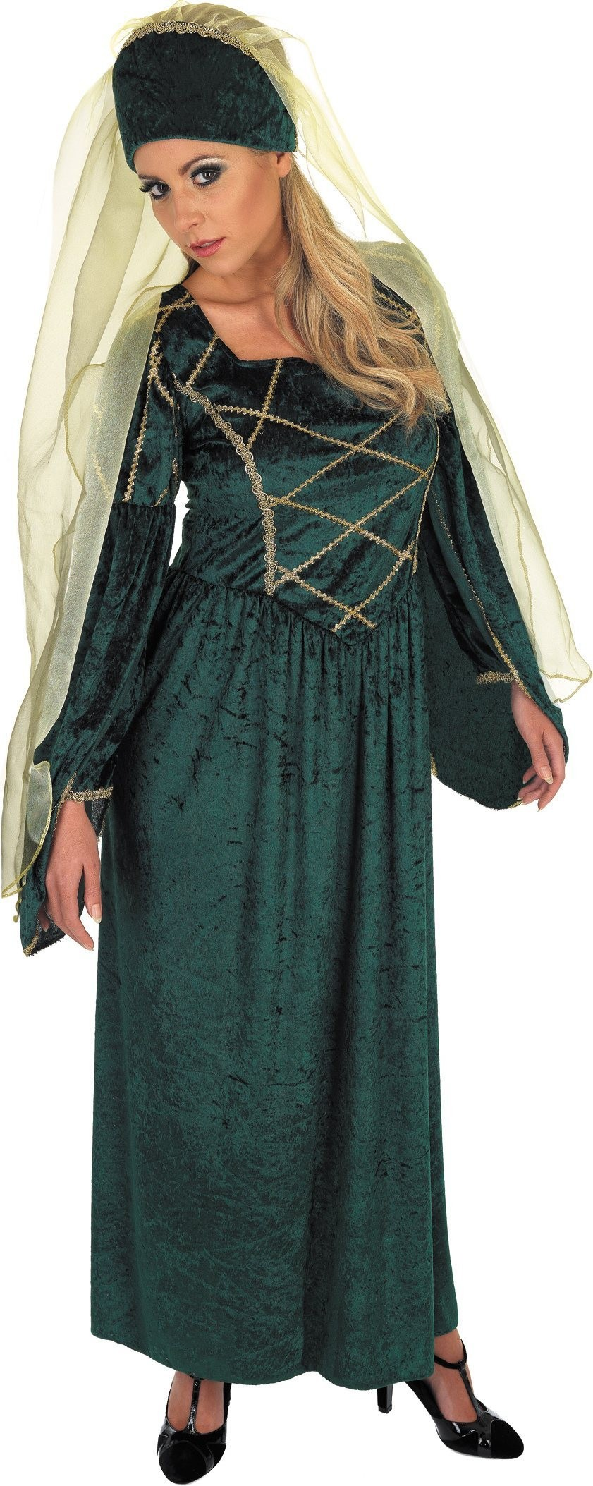 Tudor Lady Emerald Fancy Dress Costume