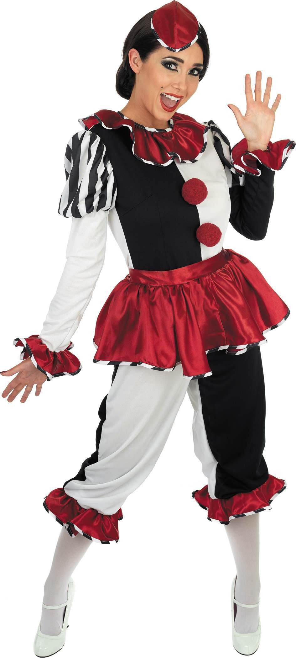 Harlequin Clown Fancy Dress Costume