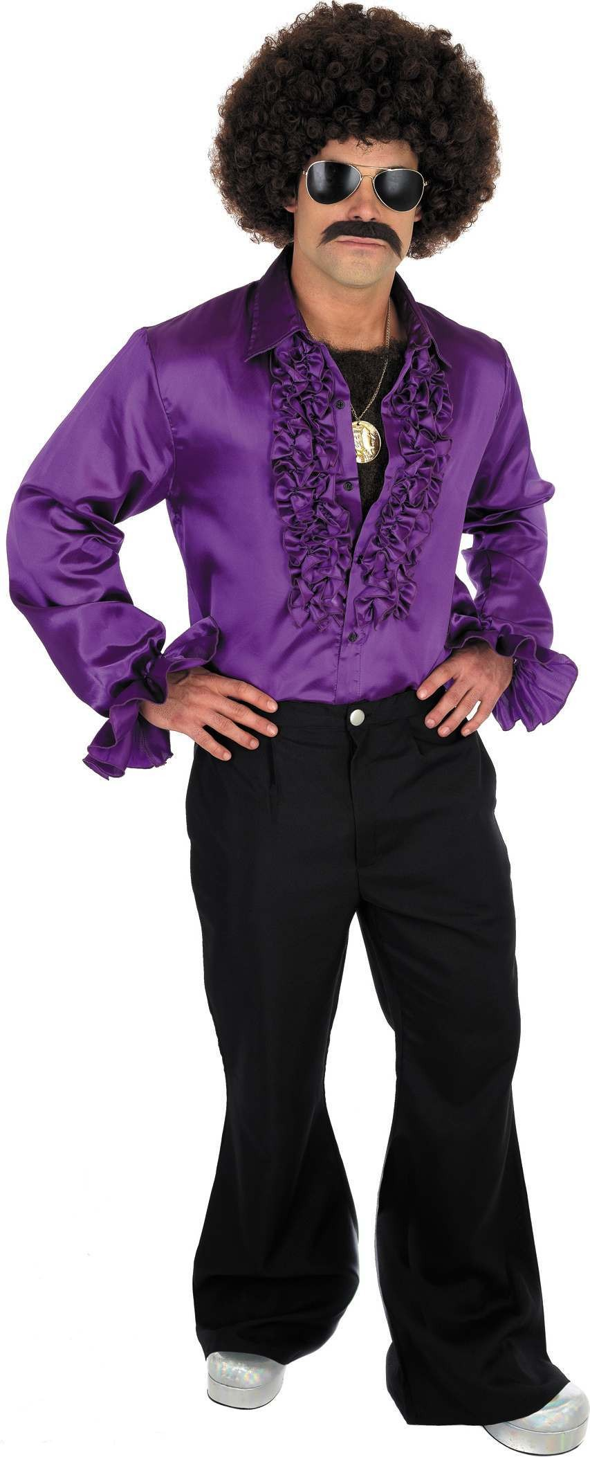 Purple Disco Shirt (1970S Fancy Dress)
