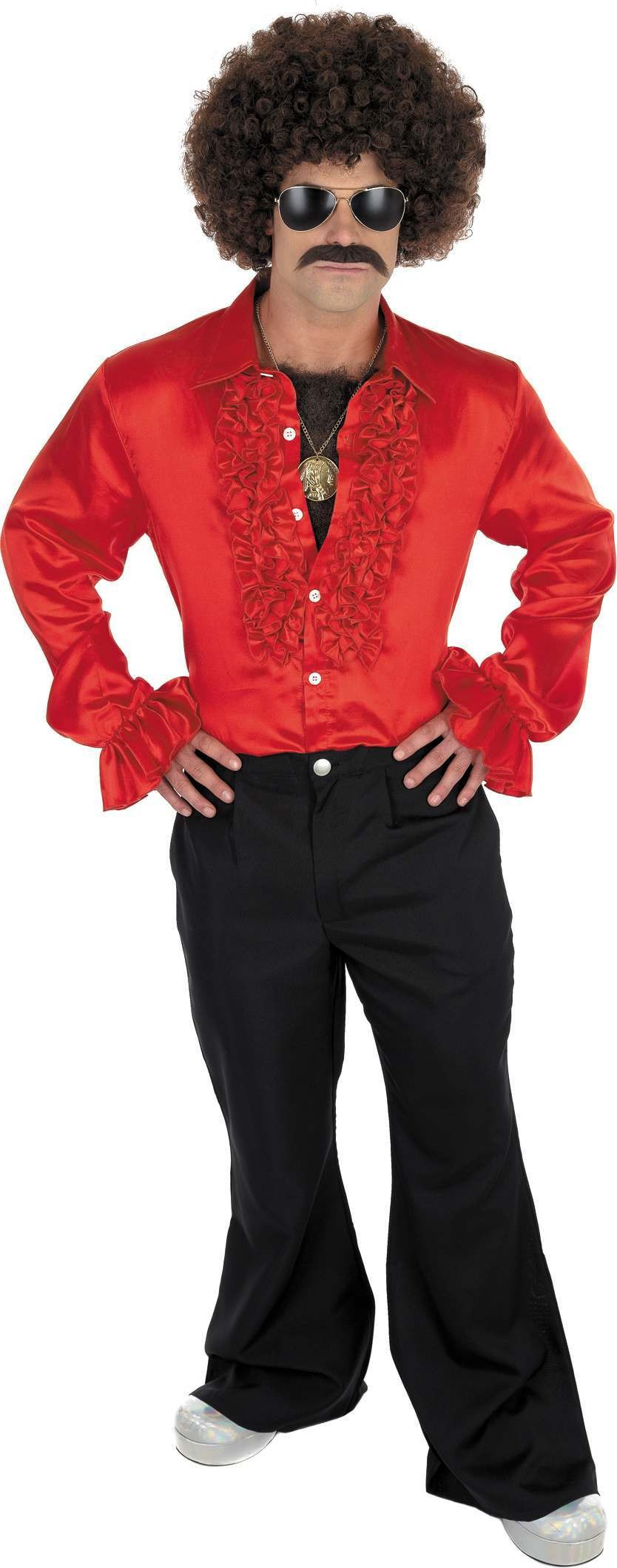 Red Disco Shirt (1970S Fancy Dress)