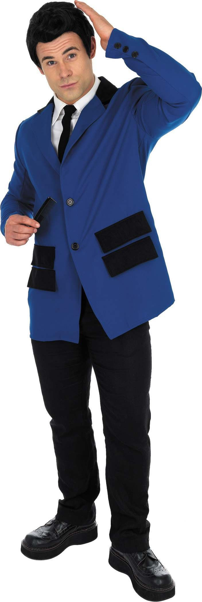 Blue Teddy Boy Fancy Dress Costume