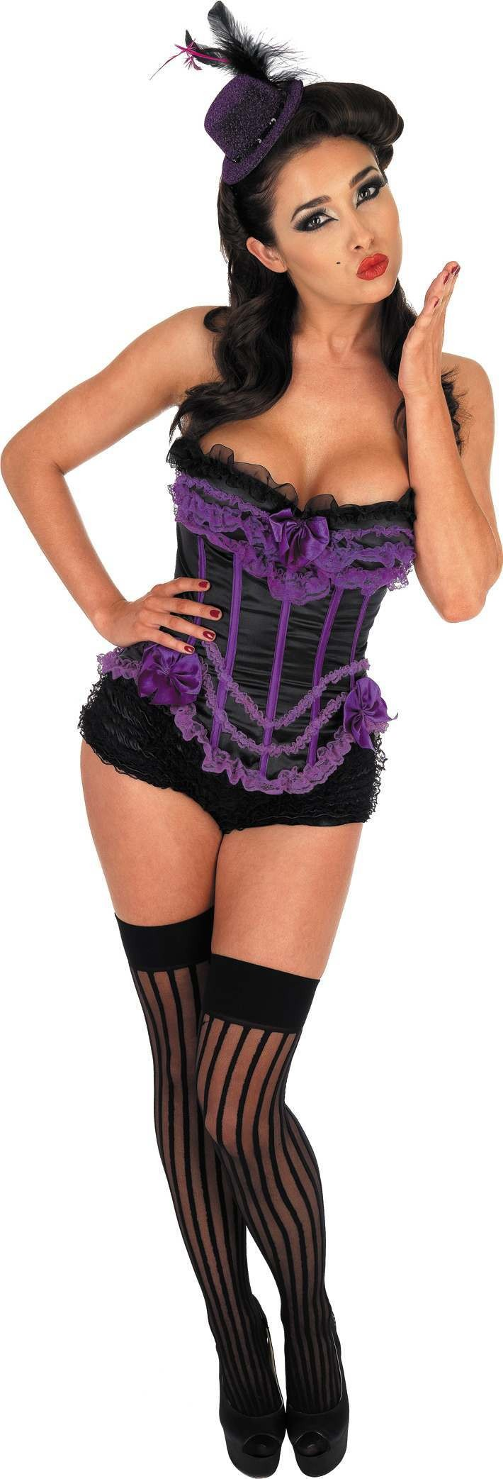 Purple Parisian Basque (Sexy , Burlesque Fancy Dress)