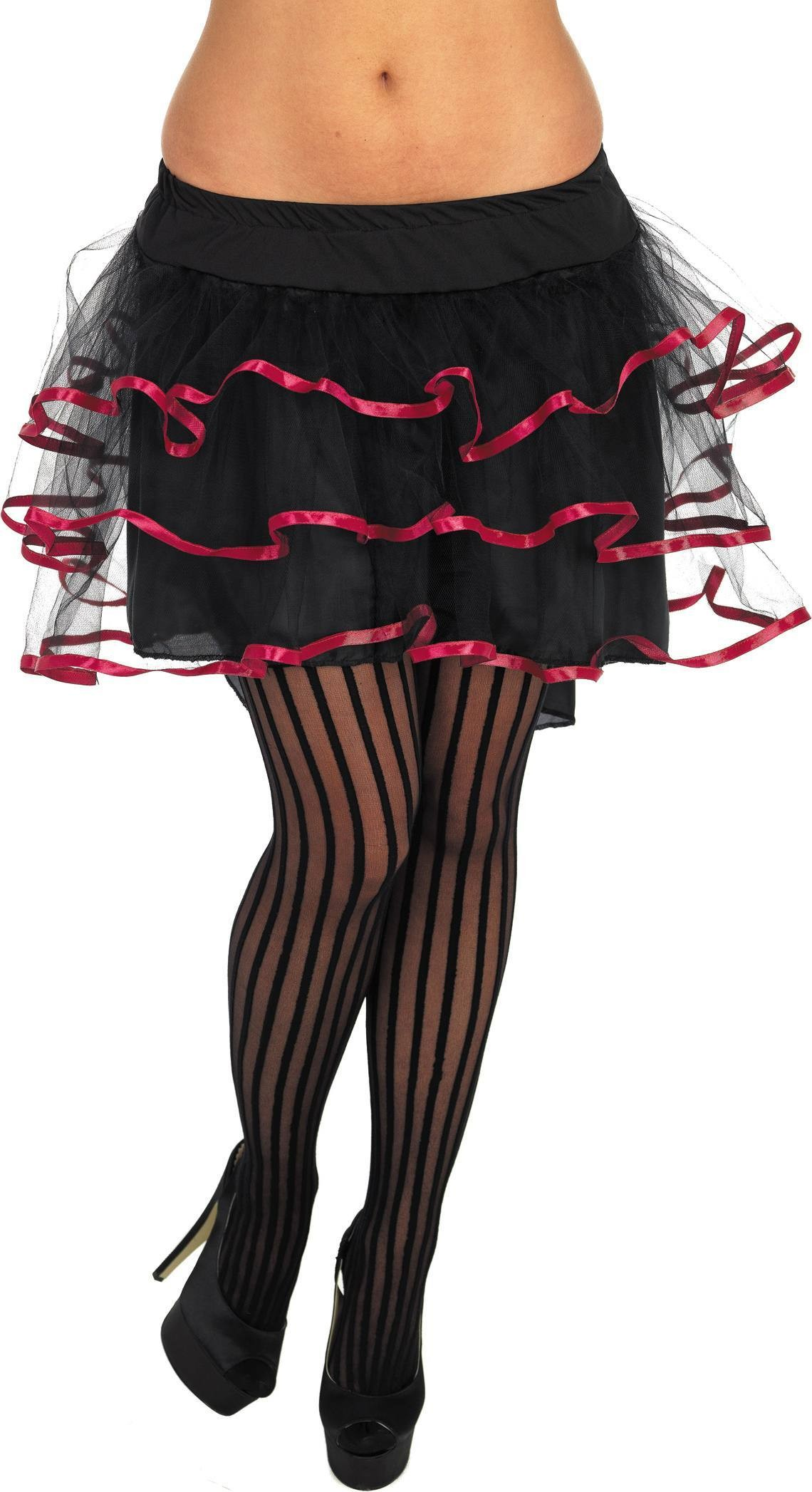 Black And Pink Layered Tutu (Sexy , Burlesque Fancy Dress)