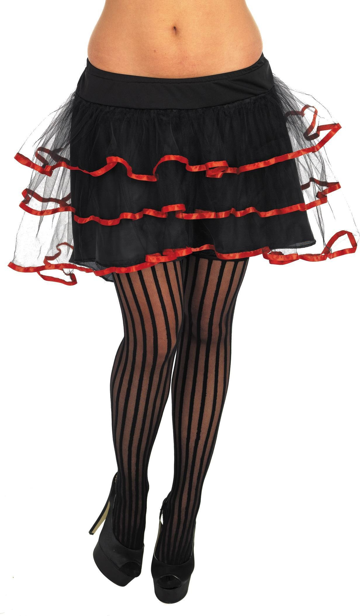 Black And Red Layered Tutu (Sexy , Burlesque Fancy Dress)