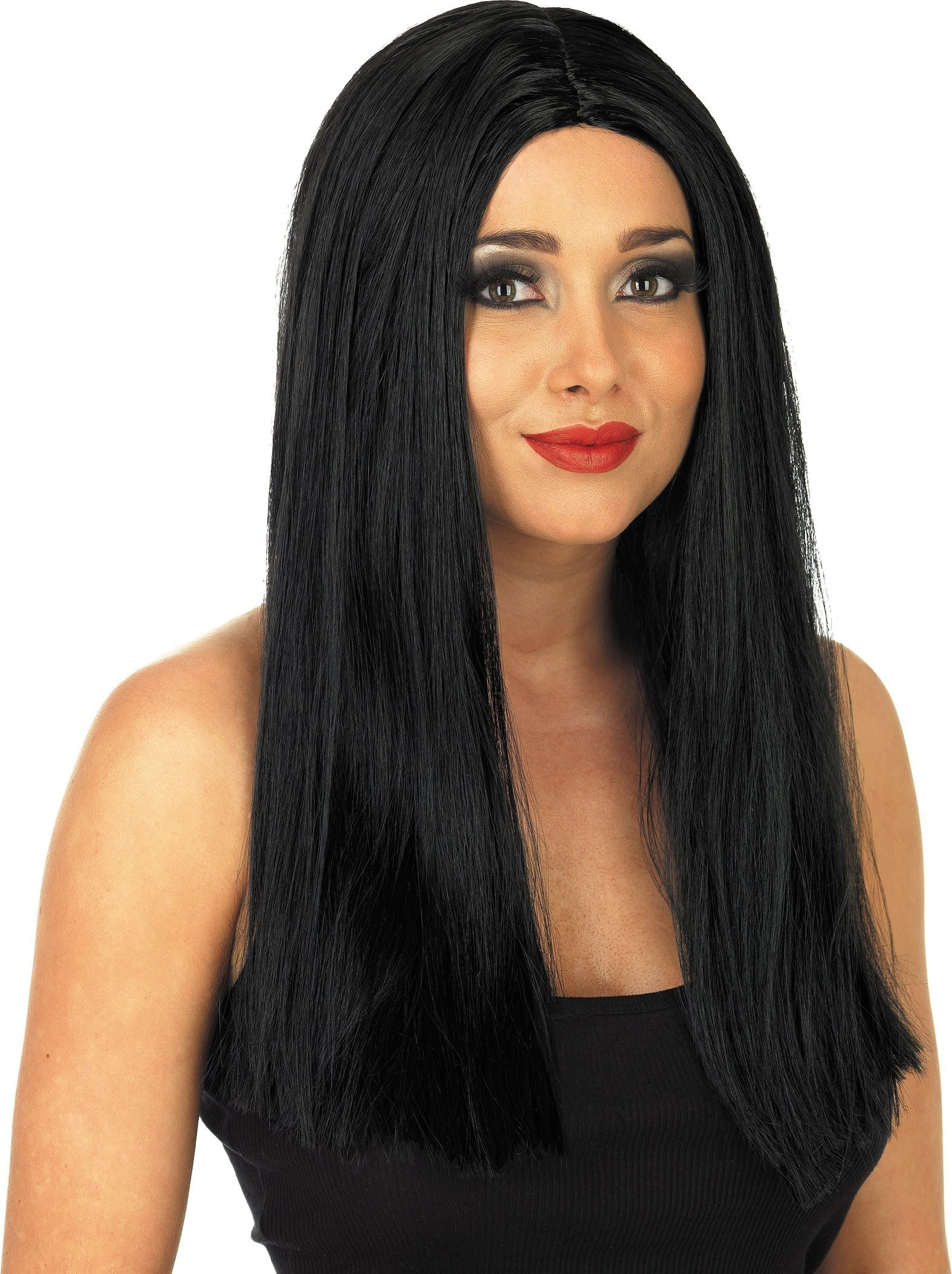 Long Black Wig (Halloween Wigs)
