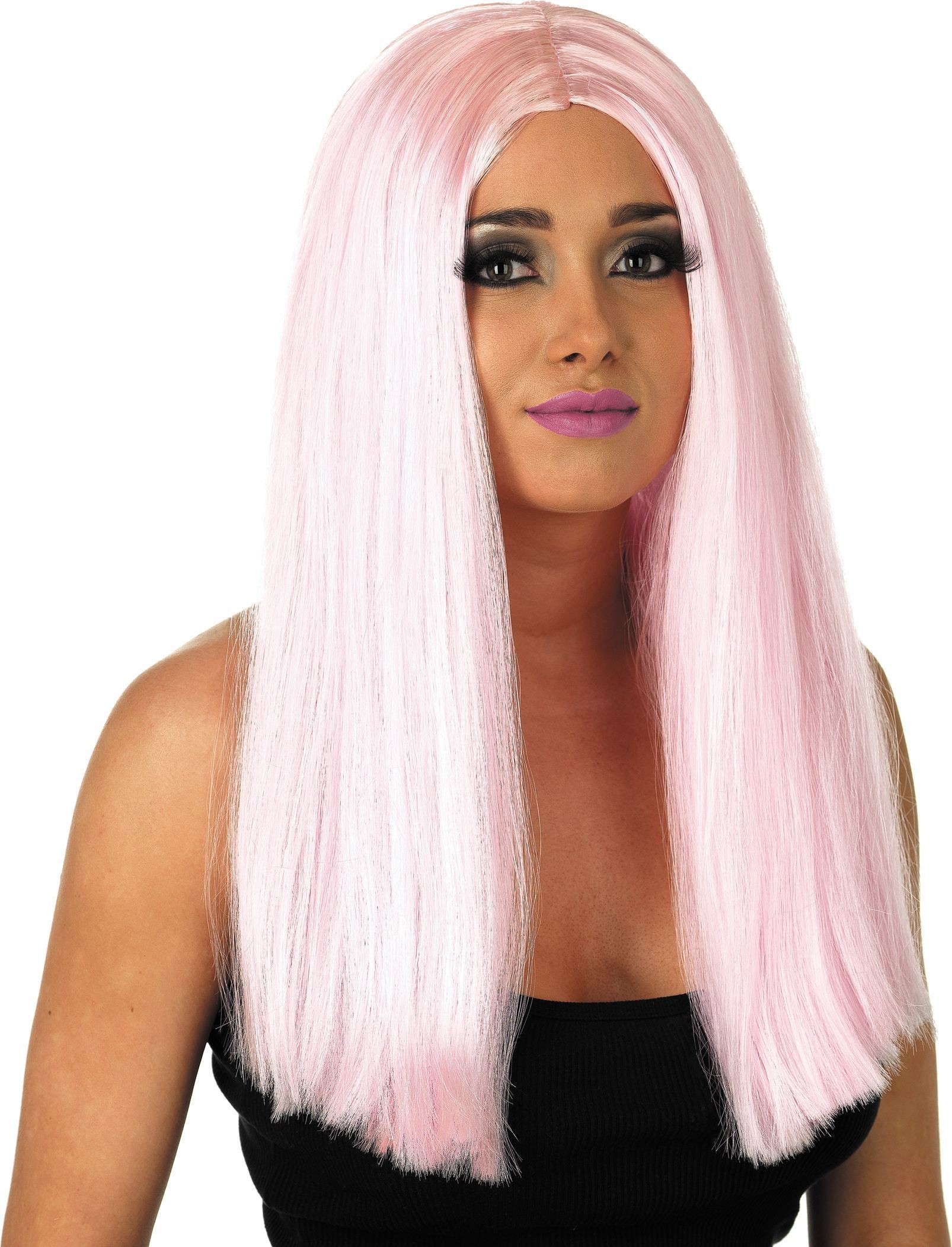 Long Baby Pink Wig (Fancy Dress Wigs)