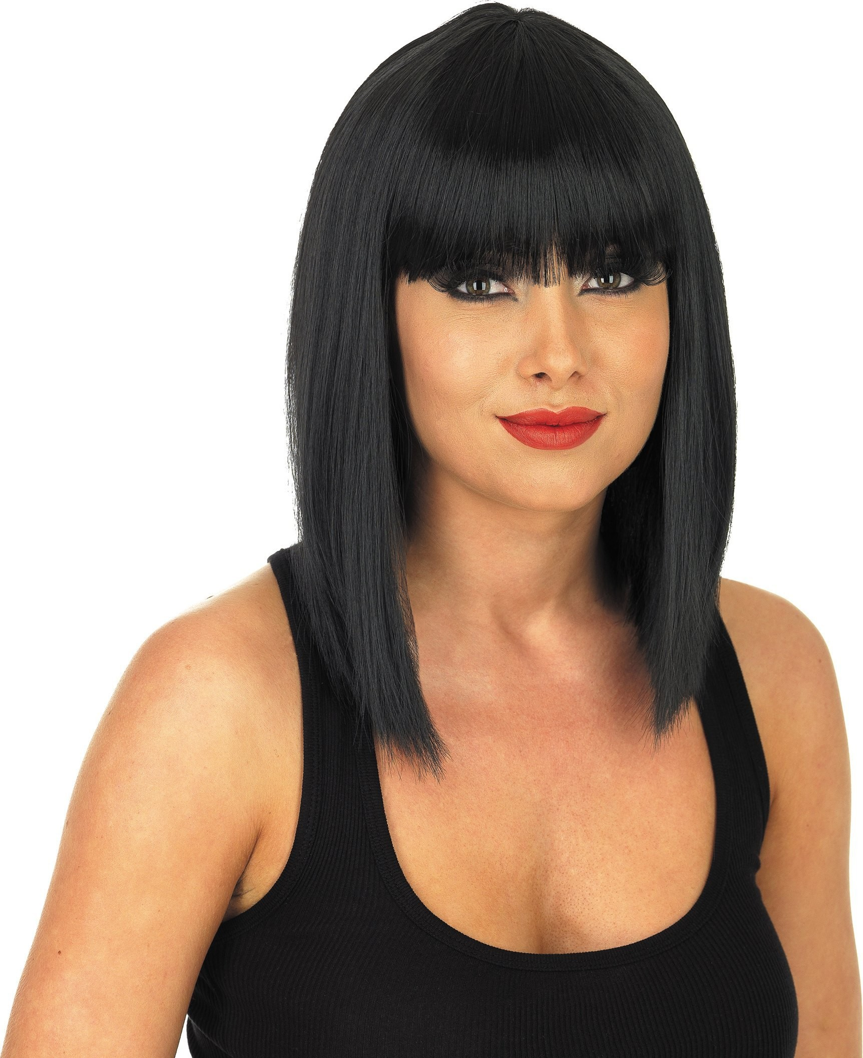 Straight Black Wig (Fancy Dress Wigs)