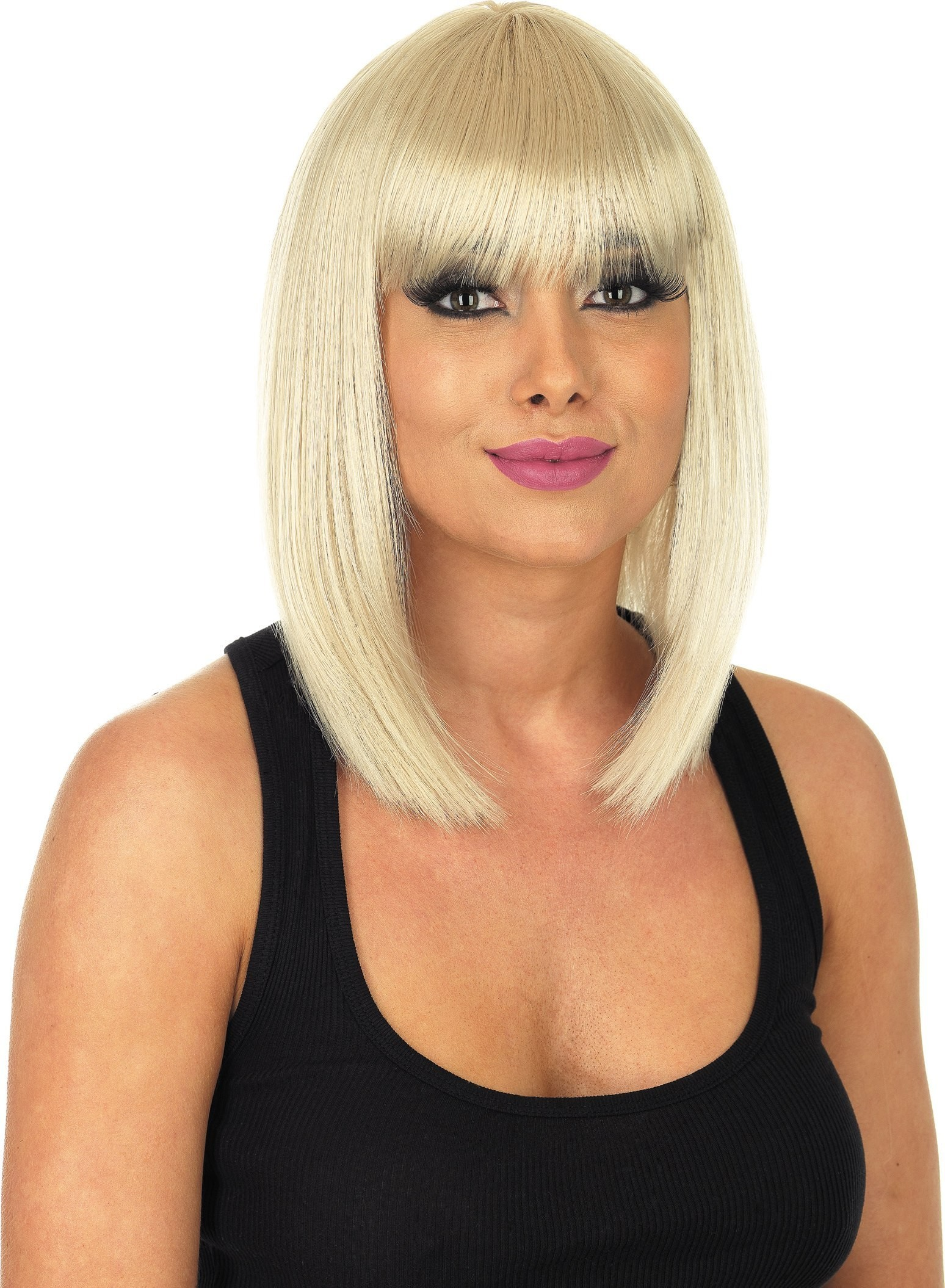 Straight Blonde Wig (Fancy Dress Wigs)