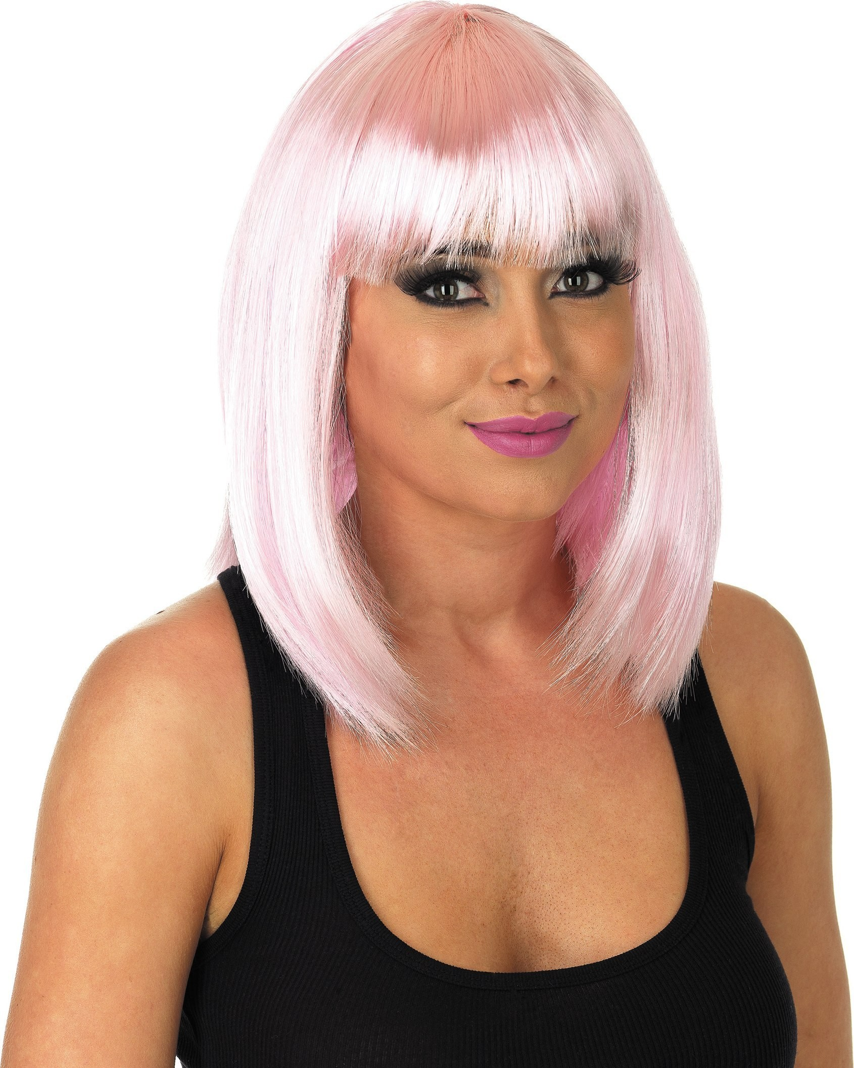 Straight Baby Pink Wig (Fancy Dress Wigs)