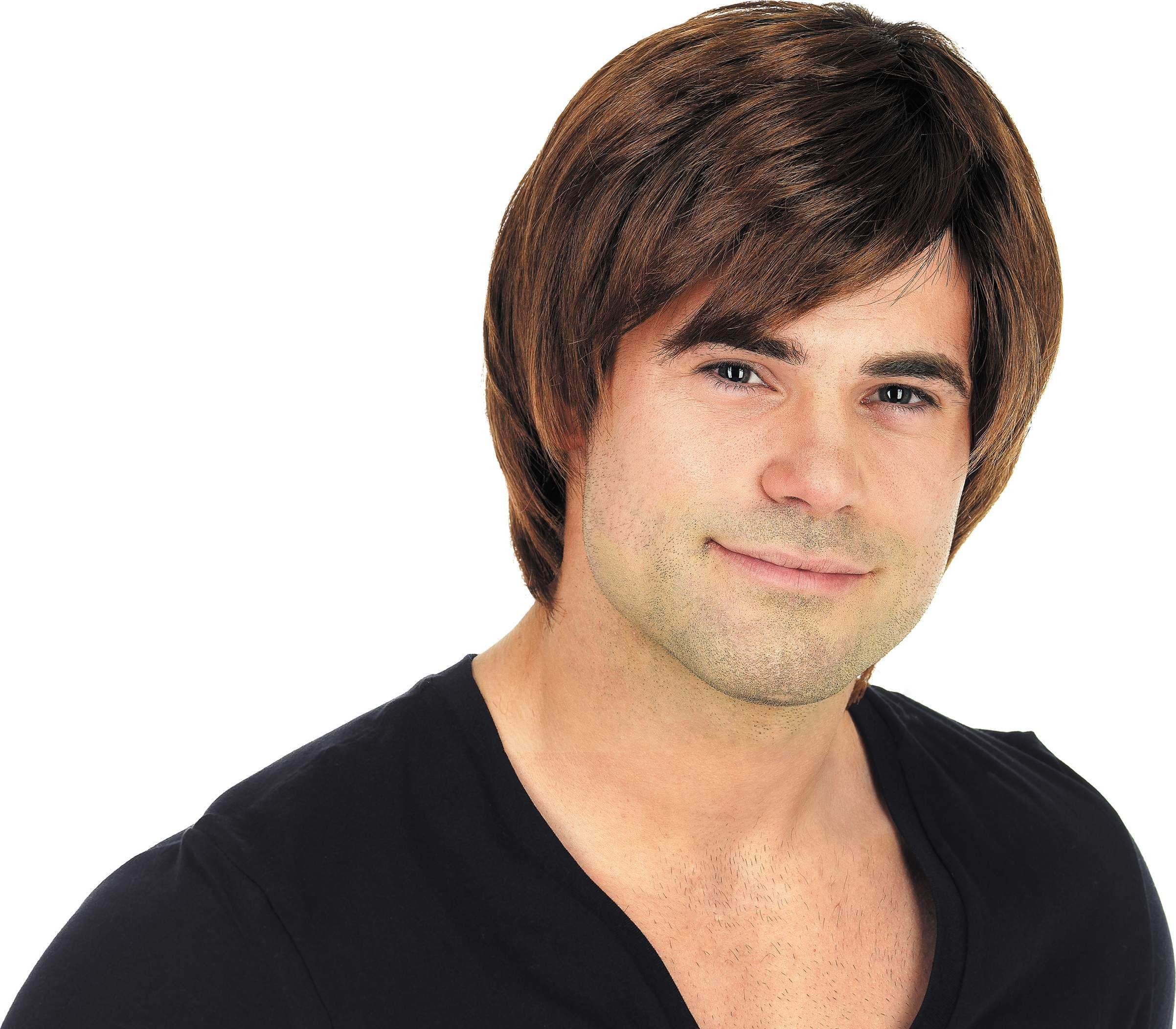 Brown Boy Band Wig (Fancy Dress Wigs)