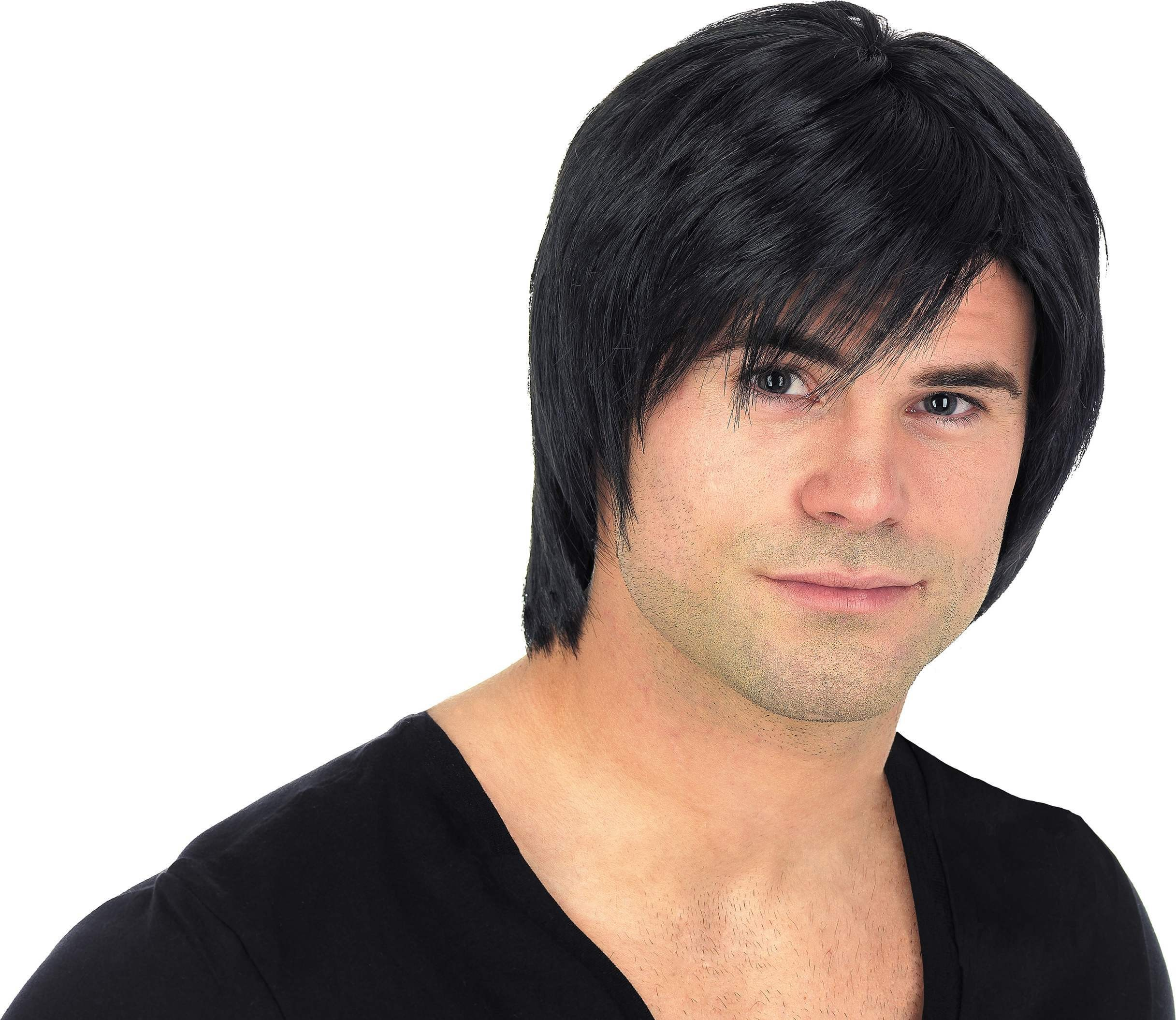 Black Boy Band Wig (Fancy Dress Wigs)