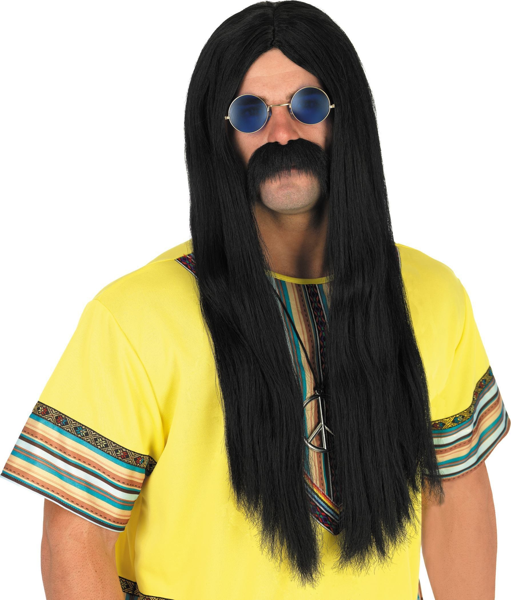 Black Hippie Wig (1960S Fancy Dress Wigs)