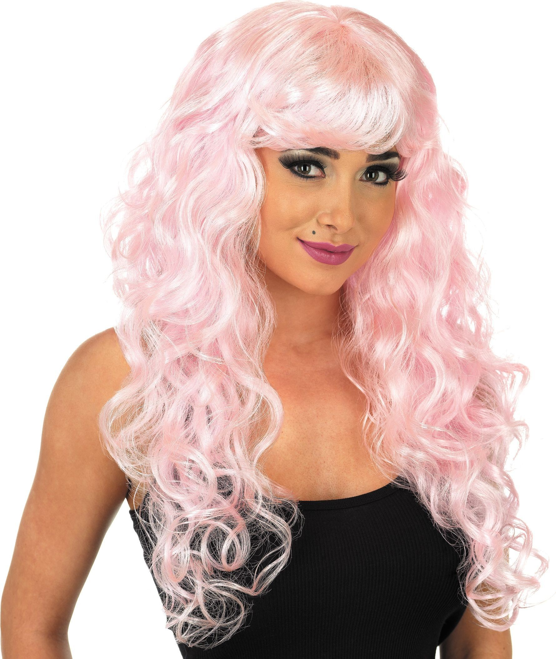Baby Pink Temptress Wig (Fancy Dress Wigs)