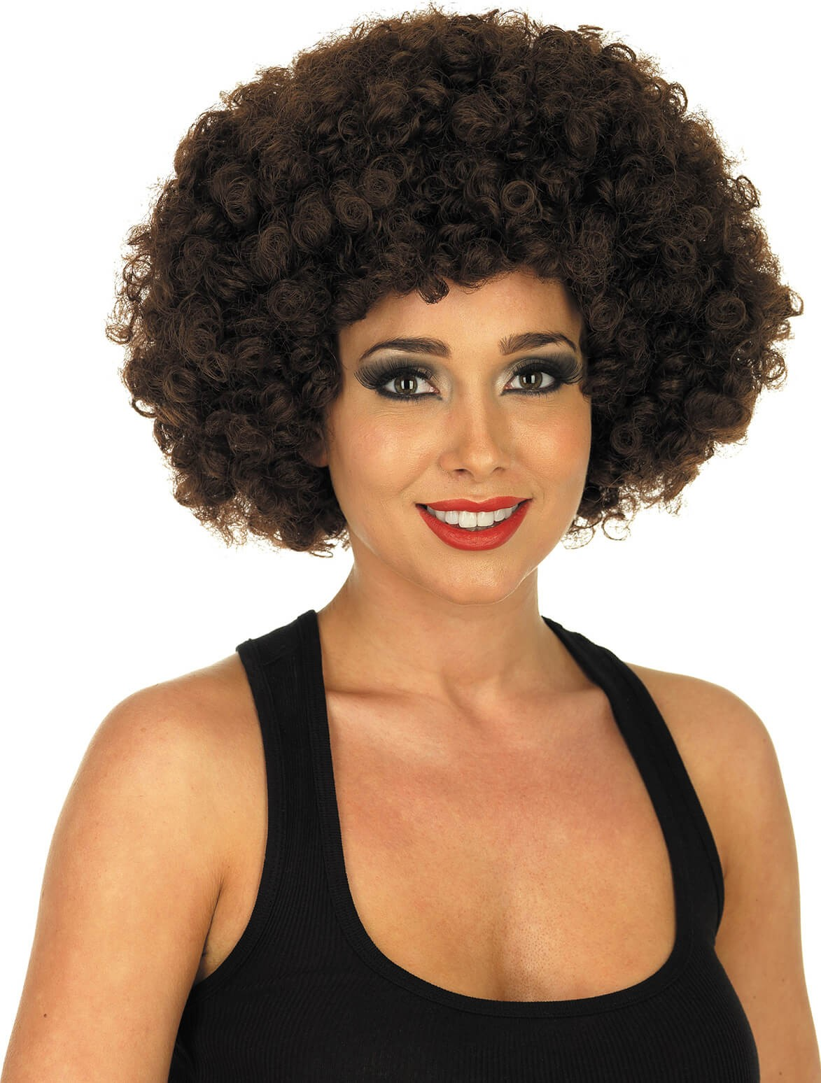 Brown Afro Wig (1970S Fancy Dress Wigs)