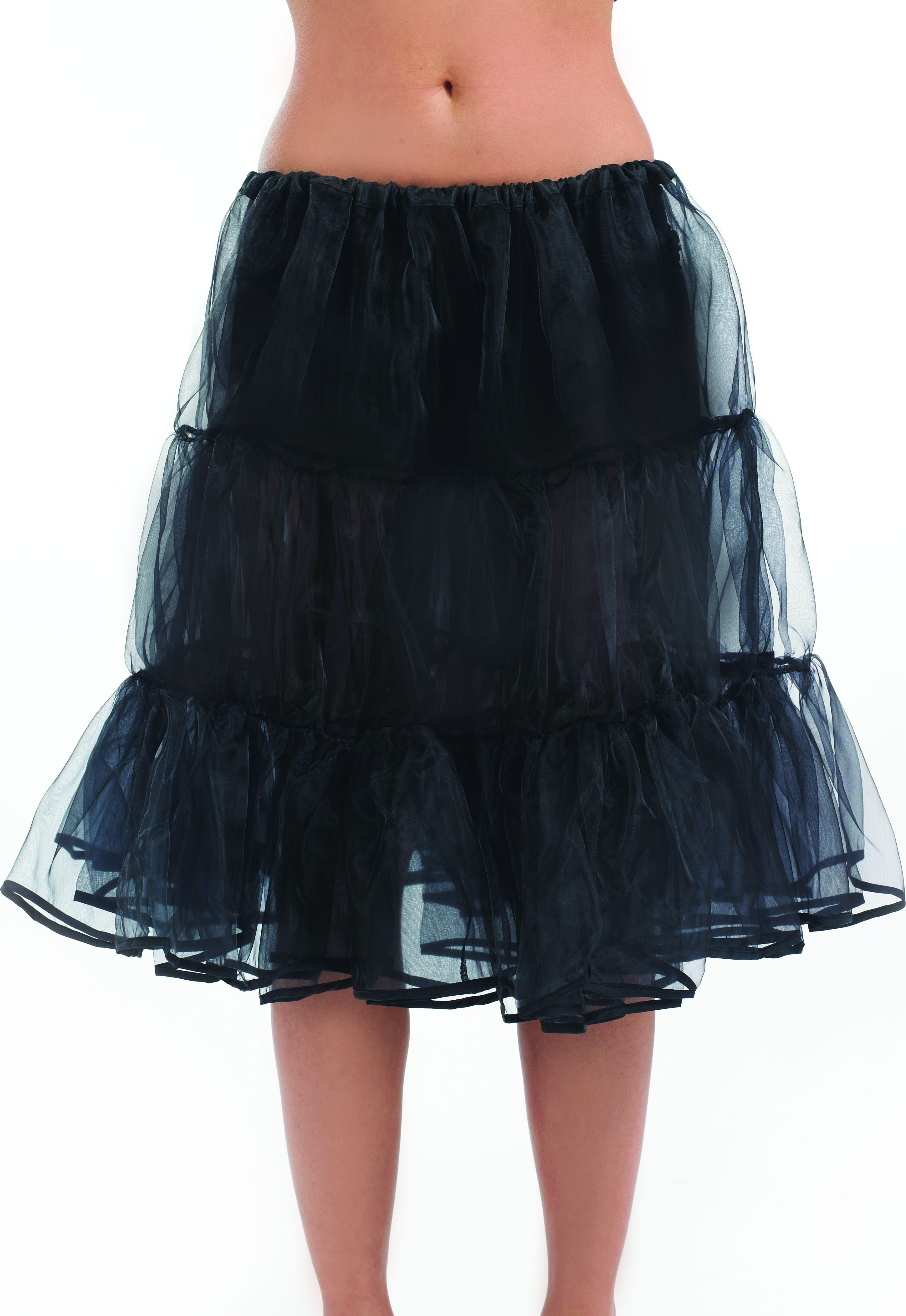 Long Black Underskirt (Halloween Fancy Dress)